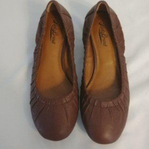Lucky Brand Shoes - Lucky Brand Leather Brown Kitten Wedges
